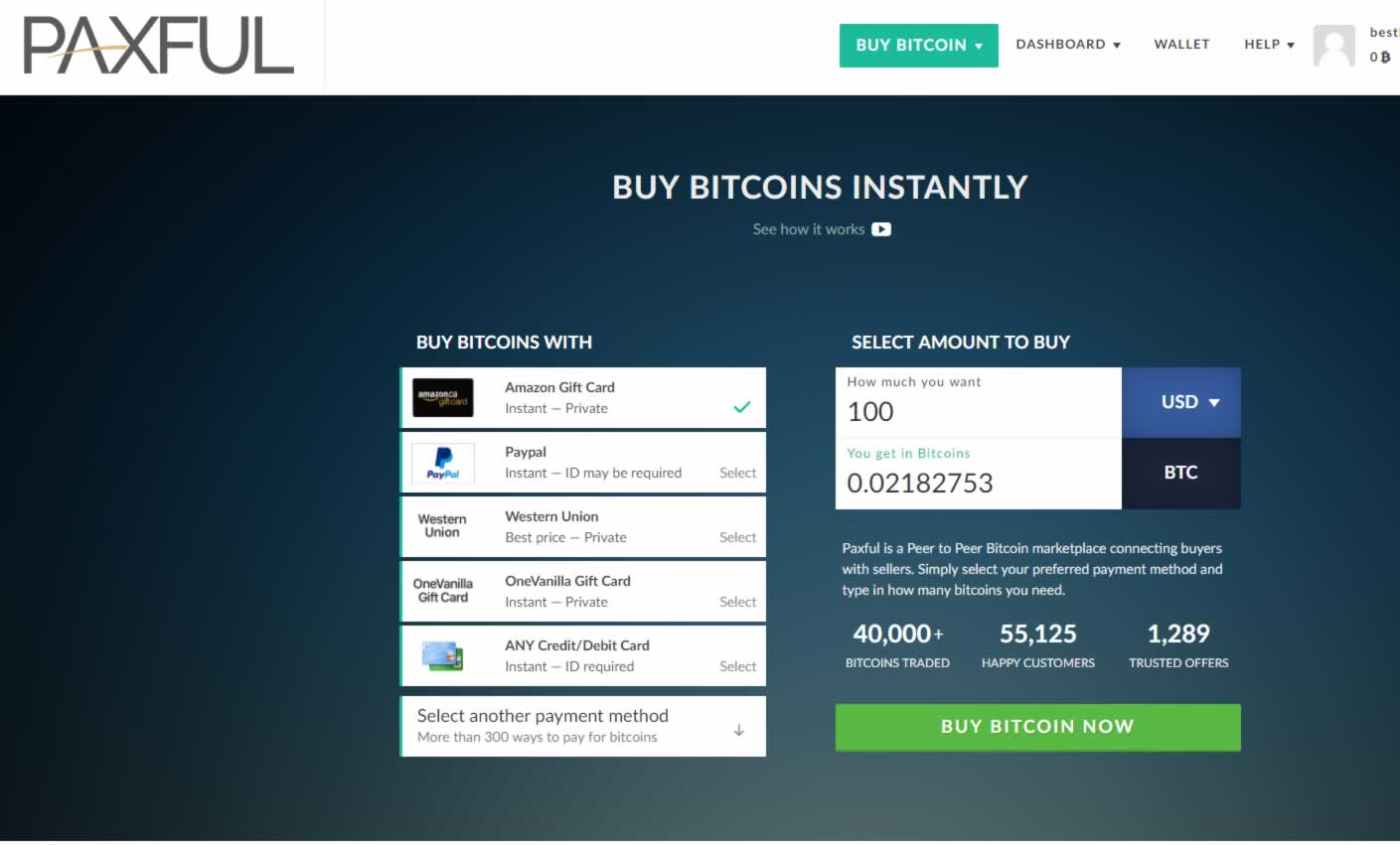 Paxful - Buy Bitcoin With Virtually Anything of Value